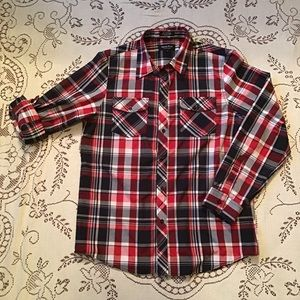 Eighty Eight - Platinum Plaid Casual Button Down